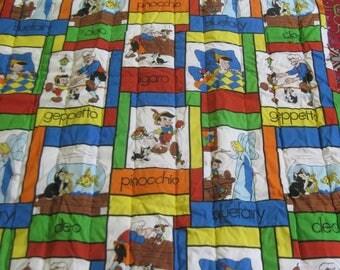 Vintage RARE Pinocchio Bedspread