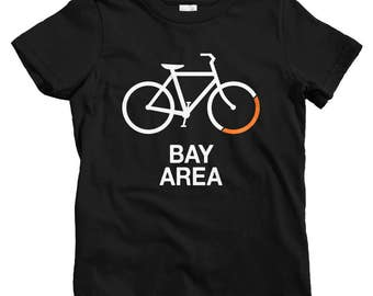 Kids Bike Bay Area T-shirt - Baby, Toddler, and Youth Sizes - Kids Tee, Gift for Kids, Bay Area Kids, Bicycle Sign Shirt, Bike, Cycling Tee