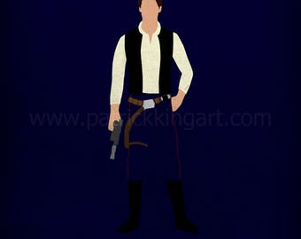 Star Wars A New Hope - The Outlaw - Han Solo Art Print - poster, rebel, star wars, minimalist