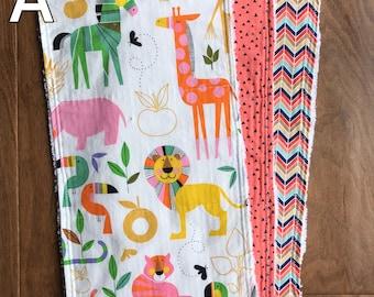 Baby Burp Cloth Bundle - Zoo Bisou