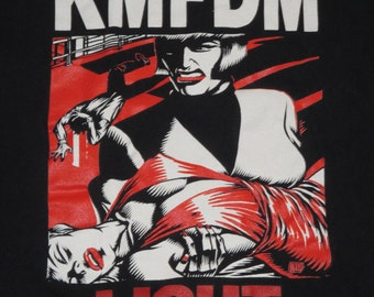 Rare Vintage 1990s KMFDM Light Industrial Dance Rave T Shirt