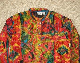 Rare Vintage 1990s Avant Garde Baroque Embroidered Embellished Silk Jacket