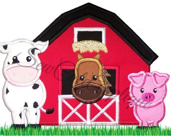 Barnyard Animals No Sew Applique Patch