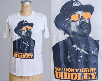 80s Bo Diddley for Bo Jackson You Dont Know DIDDLEY Crosstrainer Promo Bootleg T Shirt