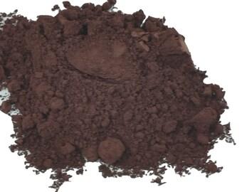 Upper Crust Dark Chocolate  Brown  Matte Natural organic Makeup Eyeshadow  loose  Eye Shadow   Mineral Makeup Vegan Natural