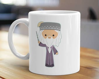 The Only One He Ever Feared Mug, Unique Coffee Mug, Illustrated Mug, Cute Mug, Gifts for Him, Gifts for Her, Magic Mug, Wizard Mug