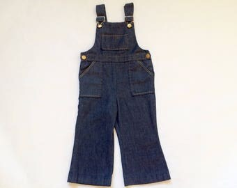 Vintage Baby Bellbottoms Denim Overalls