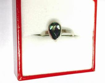 Vintage Mystic Topaz Ring, Size 6., Sterling Silver, Pear Shape, Clearance sale, Item No. S284
