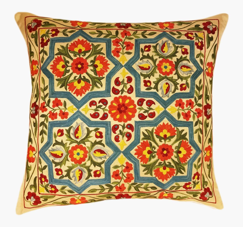 Suzani Pillow, Suzani Silk Pillow Cover SP7 21, Uzbek Suzani, Suzani, Decorative  Pillows, Accent Pillows, Designer Pillows, Throw Pillows