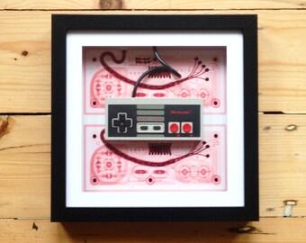 Genuine NES Controller Wall Art -Unique - Retro - Rare - Geekery