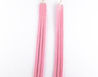 Leather earrings, ear straps