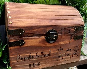 Card Box, Wedding Card Box, Rustic Weddings, Rustic Card Box, Advice to the Newlyweds, Card Box for Shower
