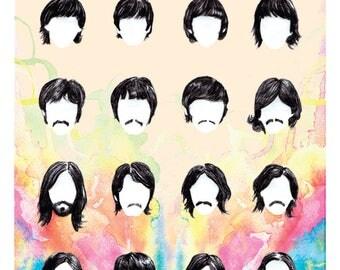 Beatles 12x18 Illustration Print