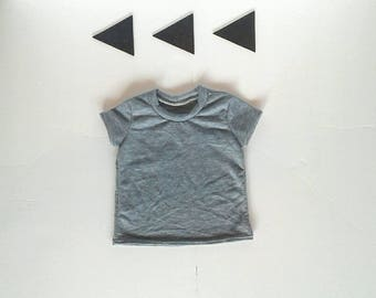 Basic gray tee t shirt sizes 3months- 7 years