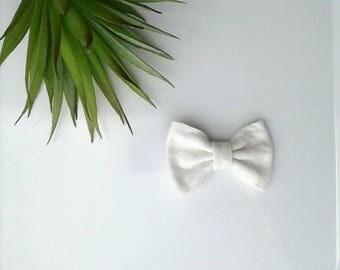 Girl's white hair bow clip girls modern