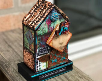 ATB Artist Trading Block Create House Mix Media Assemblage