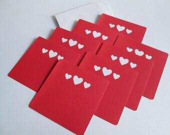 DESTASH >> Valentine cards w/envelopes