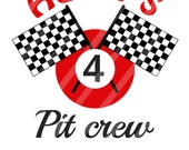 Pit Crew Racecar Birthday Number Personalized Digital Download for iron-ons, heat transfer, Scrapbooking, Cards, Personalized, DIY YOU PRINT
