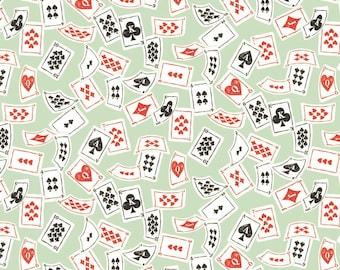 Blend Fabrics - Wonderland by Josephine Kimberling - Deck of Cards Mint