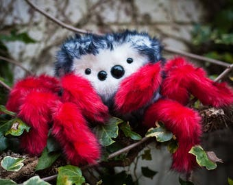 Spider Plush - Limited Edition -  Soft Sculpture, Fiber Art, Art Toy, Plush, Halloween