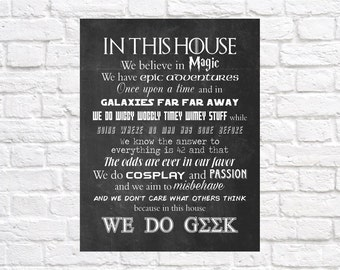 Geek House Sign - Instant Download