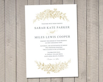 Poppy Wedding Invitation (Printable) DIY by Vintage Sweet
