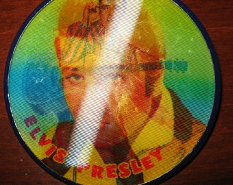 Elvis Presley Flashing Pin Hologram Button