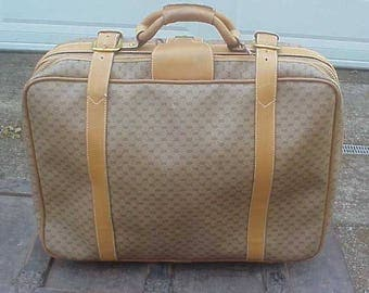 Vintage 60s GUCCI Suitcase Carry-On Bag Luggage - Clean, Nice, Authentic, Great Condition!