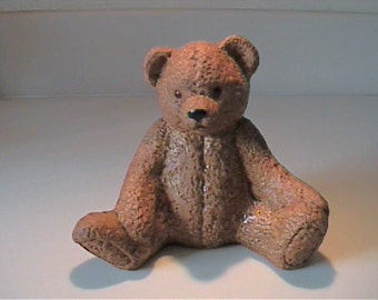 "Vintage 1960's ceramic brown 5"" teddy bear"