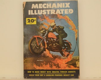 Mechanix Illustrated Magazine, June 1953 - Great Condition, Tips,  Science, Technology, Hundreds of Vintage Ads, Oregon's Motorcycle Maniacs