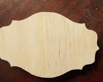 Set of 3 unfinished wood plaques