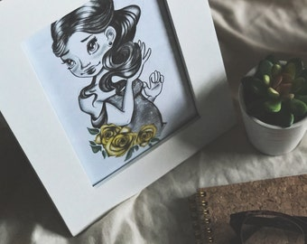 Princess, Yellow Flowers 5x7 Print-at-Home Art