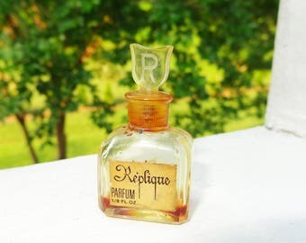 Vintage 1940s Replique by Raphael Paris Parfum Miniature Perfume Glass Bottle