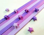 Origami Lucky Star Paper Strips Purple Mixed Star Folding DIY - Pack of 100 Strips