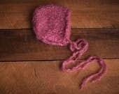 The Clare Frost Rose Bonnet Girls Photography Prop Bonnet Knit Hat Newborn