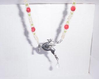 Flying Reindeer Macrame Hemp Necklace