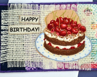 Happy Birthday Cherries & Chocolate Card