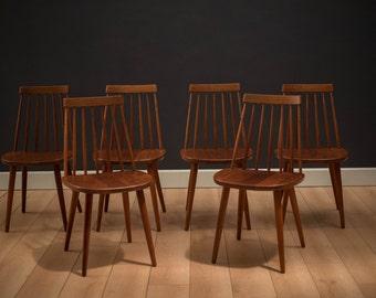 Teak dining table etsy for Dscan dining room set