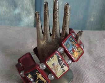 Krishna Wooden Devotional Bracelet.