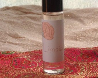 Limpia Ritual Perfume Oil 10ml Roller Bottle Smudge oil. Smudging oil.