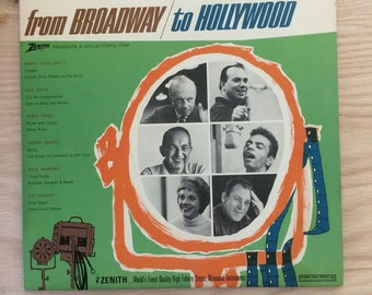"Vintage Album ""From Broadway to Hollywood"" Zenith Collector Album With Percy Faith, Johnny Mathis, Julie Andrews and More"