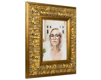 """Craig Frames, 5x7 Inch, Antique Gold Picture Frame, Barroco, 3.6"""" Wide (80800507)"""