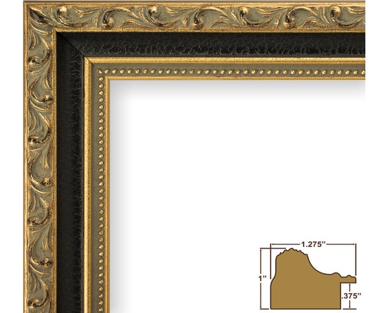 Craig Frames 24x36 Inch Antique Gold And Black Picture Frame