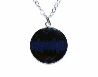 Thin Blue Line Police Support Lace Necklace/ Police Wife/ Female Officer/ Law Enforcement Jewelry