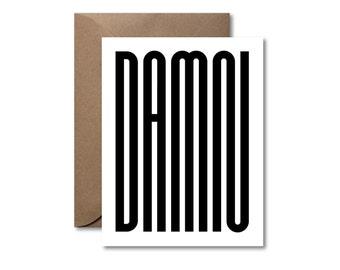 Damn  |  Letterpress Card