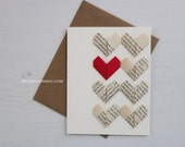 origami love card | devil heart greeting card || anniversary card || | wedding card || A2 card with envelope -8 multi vintage hearts