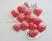 12 origami 3D hearts || wedding hearts || red heart favors || Valentines Day gift for her {heart like a balloon} -red dots