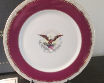 Abraham Lincoln Dinner Plate White House China by Woodmere Box with Certificate