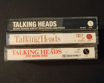 Vintage Talking Heads cassettes