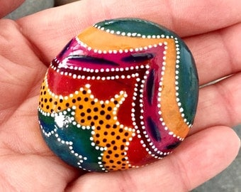 carnival / painted rocks / painted stones / under the big top / rock art / art on stone / circus theme / boho art / tribal art / hippie art